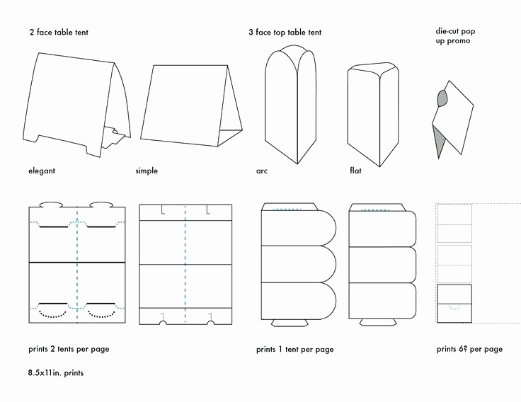Tri Fold Table Tent Template New Tri Fold Table Tent Template – Hazstyle