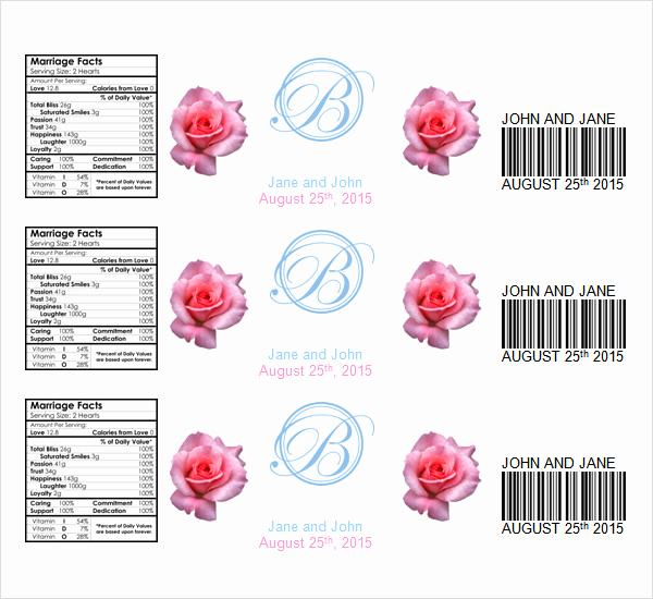 Water Bottle Labels Free Template Awesome 24 Sample Water Bottle Label Templates to Download