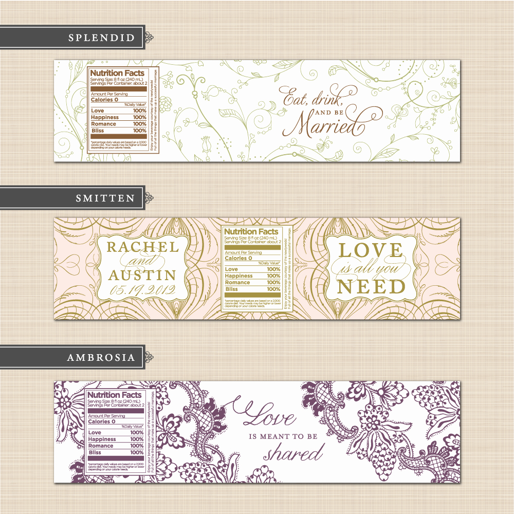 Water Bottle Labels Free Template Awesome 9 Best Of Free Printable Bottle Labels Template