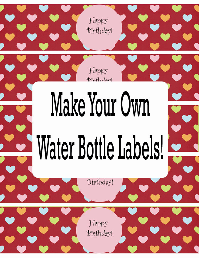 Water Bottle Labels Free Template Awesome Water Bottle Labels Template