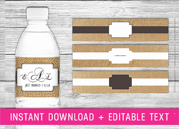 Water Bottle Labels Free Template Best Of 24 Sample Water Bottle Label Templates to Download
