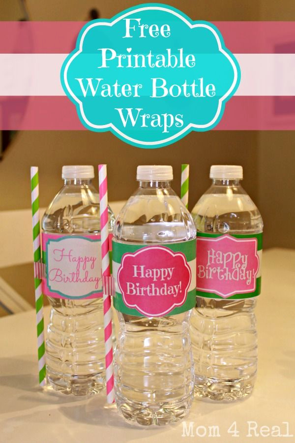 Water Bottle Labels Free Template Best Of Free Printable Happy Birthday Water Bottle Label Wraps