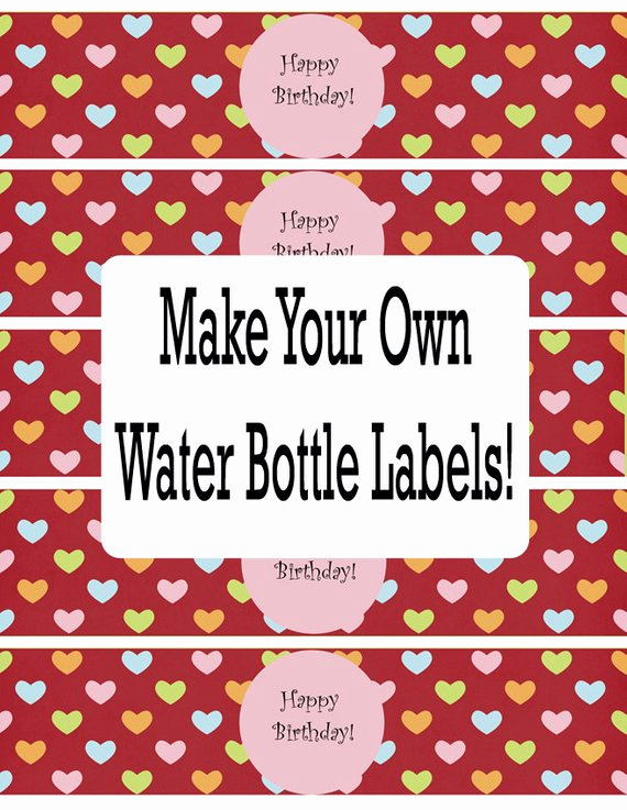 Water Bottle Labels Free Template Best Of Items Similar to Gimp Water Bottle Label Templates and