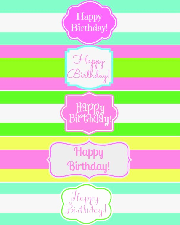 Water Bottle Labels Free Template Fresh Free Printable Happy Birthday Water Bottle Label Wraps