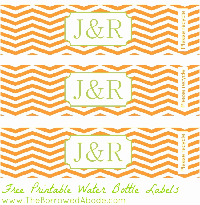 Water Bottle Labels Free Template New 7 Best Of Free Chevron Printable Templates to Edit