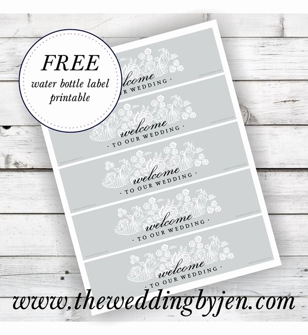 Water Bottle Labels Free Template New Great Tips On Wedding Wel E Bags and A Free Water Bottle