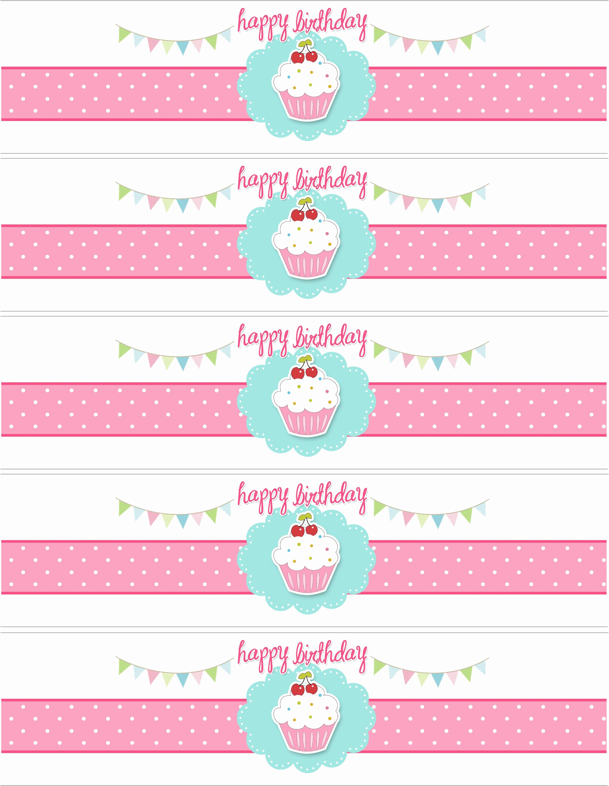 Water Bottle Labels Free Template Unique Cupcake themed Birthday Party with Free Printables