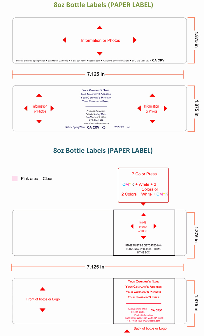 Water Bottle Labels Free Template Unique Water Bottle Label Template Make Personalized Bottle Labels