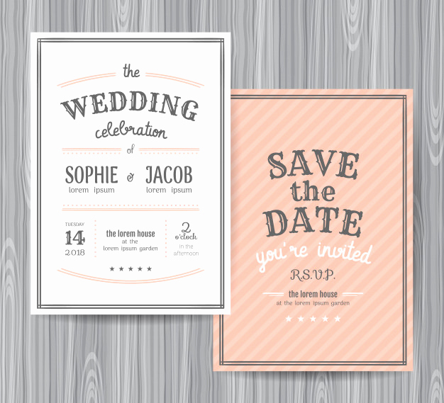 Wedding Invitation Design Templates Beautiful Wedding Invitation Design Template Vector