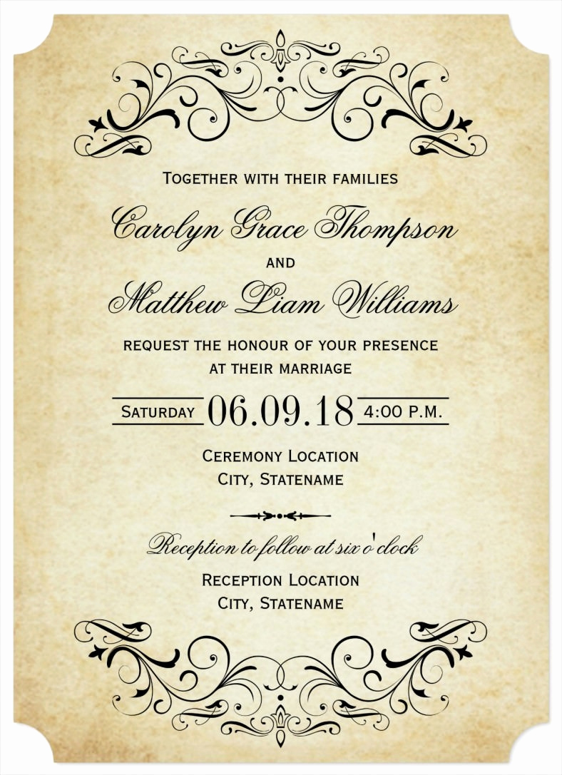 Wedding Invitation Design Templates Elegant 31 Elegant Wedding Invitation Templates – Free Sample