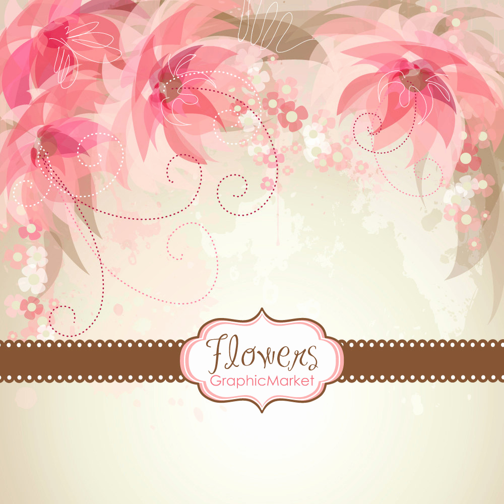 5 flower designs and 3 floral card