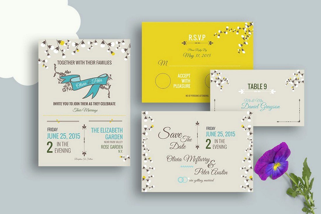 Wedding Invitation Design Templates Fresh 50 Wonderful Wedding Invitation & Card Design Samples