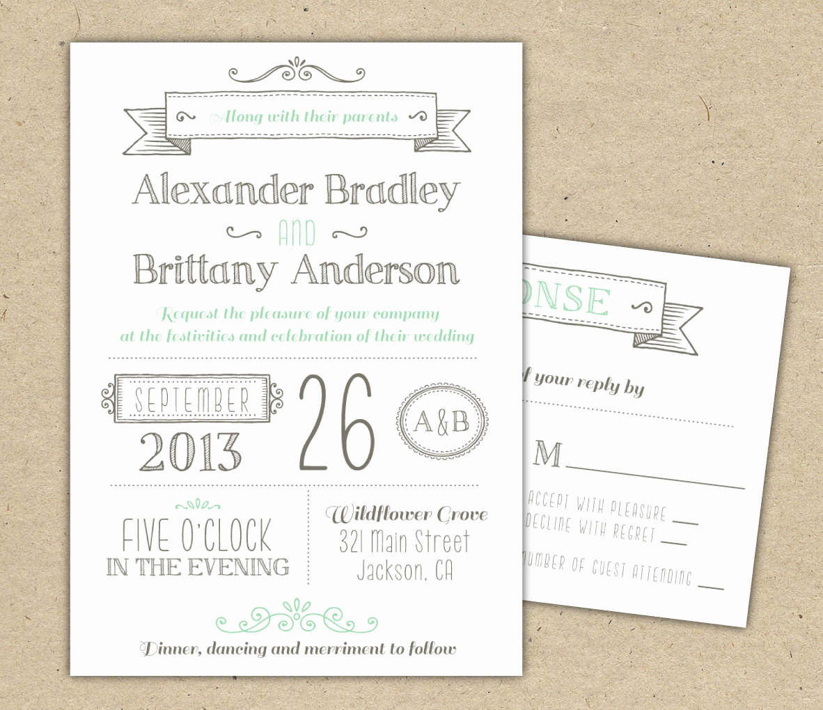 Wedding Invitation Design Templates Inspirational Wedding Invitation 1041 Sample Modern Invitation Template