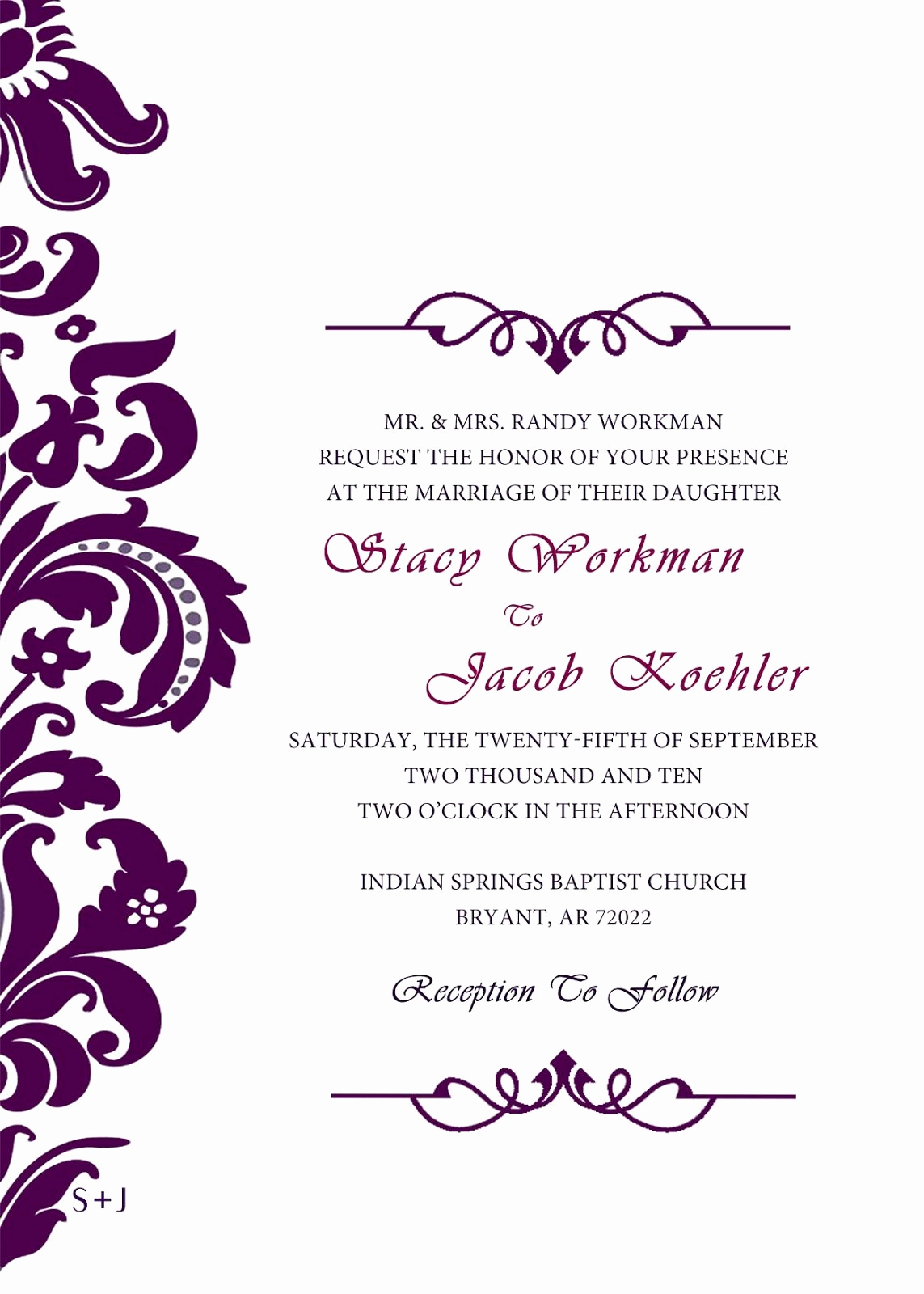 Wedding Invitation Design Templates Lovely Blank Wedding Invitations Templates Purple