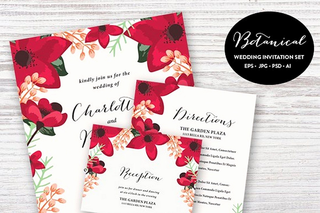 Wedding Invitation Design Templates New 90 Gorgeous Wedding Invitation Templates