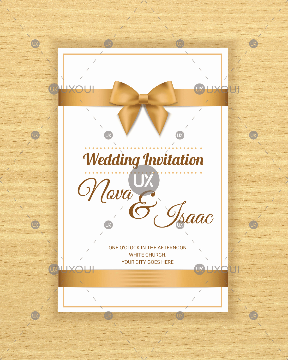 Wedding Invitation Design Templates New Free Retro Wedding Invitation Card Template Design Vector