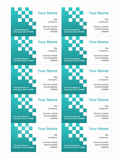 Word Template for Business Cards Awesome Free Business Card Templates